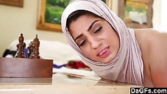 Dagfs – Arabic Chick Nadia Ali Tastes White Cock – Arab Porn HD